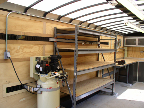 enclosed cargo trailer shelving ideas motorcycle review. Black Bedroom Furniture Sets. Home Design Ideas