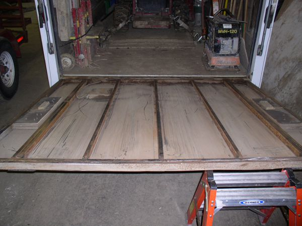Trailer ramp decking removed.